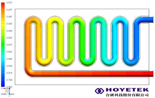 水冷管熱流分析